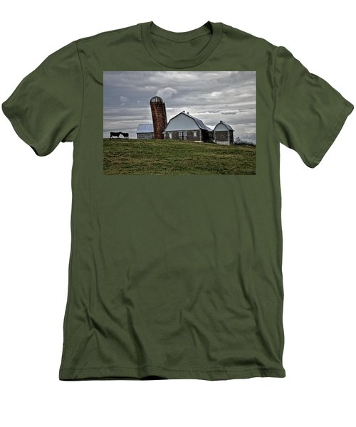 Men's T-Shirt (Slim Fit) featuring the photograph Lean On Me by Robert Geary
