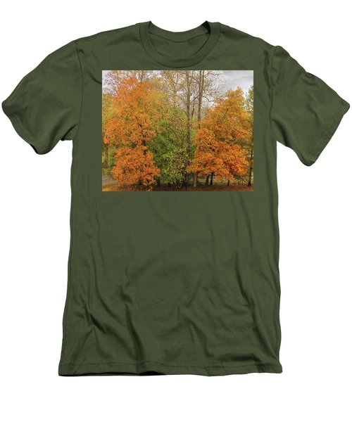 Men's T-Shirt (Athletic Fit) featuring the photograph Leaning Into Autumn by Bellesouth Studio