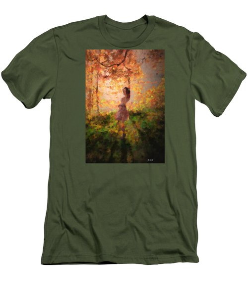 Men's T-Shirt (Slim Fit) featuring the photograph Leave The Past by Rose-Maries Pictures