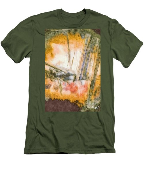 Men's T-Shirt (Slim Fit) featuring the photograph Leaving The Woods by William Wyckoff