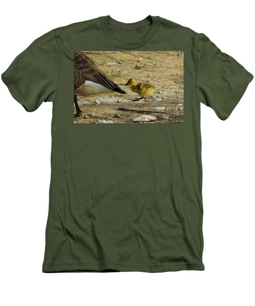 Men's T-Shirt (Slim Fit) featuring the photograph Left     Right    Left by Betty-Anne McDonald