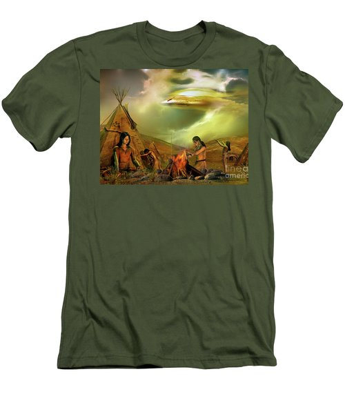 Men's T-Shirt (Slim Fit) featuring the digital art Legends Of The Sky People  by Shadowlea Is