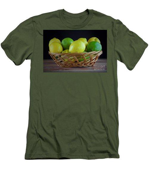 Lemon And Lime Basket Men's T-Shirt (Athletic Fit)