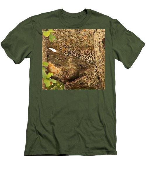 Leopard Cub Men's T-Shirt (Athletic Fit)