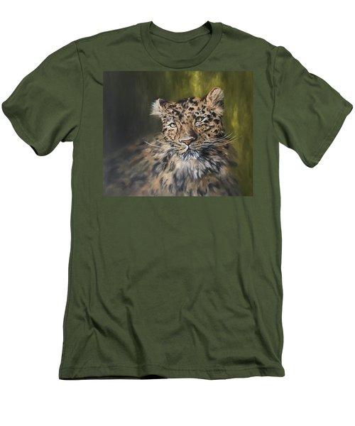 Leopard Relaxing Men's T-Shirt (Slim Fit) by Jean Walker