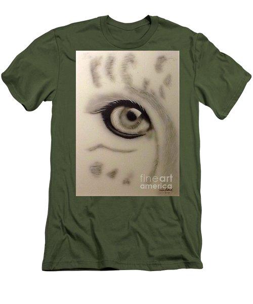 Leopard's Eye Men's T-Shirt (Athletic Fit)