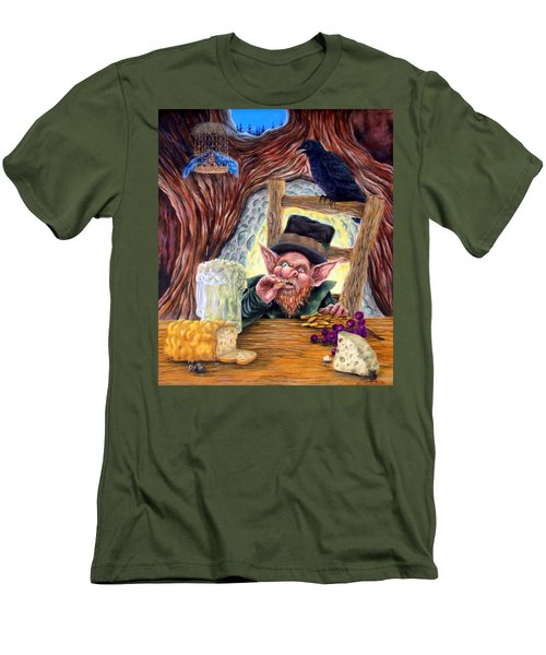 Men's T-Shirt (Slim Fit) featuring the painting Leprechaun's Lair by Heather Calderon