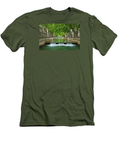 Les Quais De La Fontaine Men's T-Shirt (Slim Fit) by Scott Carruthers