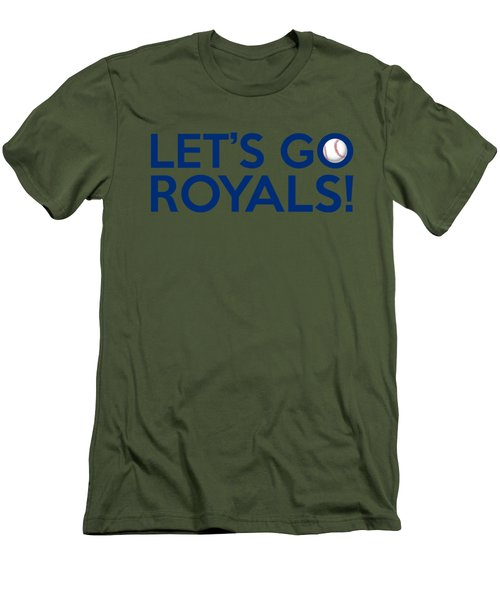 Let's Go Royals Men's T-Shirt (Slim Fit) by Florian Rodarte