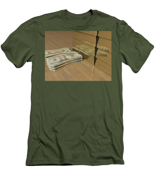 Level One Money Manifestation  Men's T-Shirt (Athletic Fit)