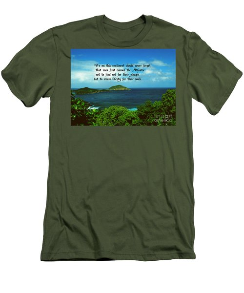 Men's T-Shirt (Slim Fit) featuring the photograph Liberty by Gary Wonning