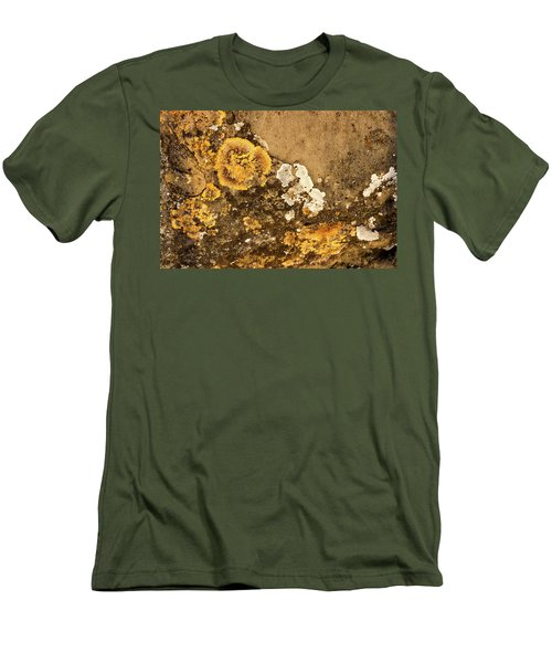 Men's T-Shirt (Athletic Fit) featuring the photograph Lichen On The Piran Walls by Stuart Litoff