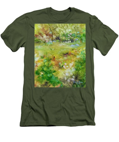Men's T-Shirt (Athletic Fit) featuring the painting Life Lessons by Judith Rhue