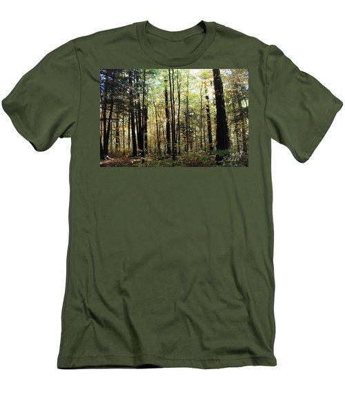 Light Among The Trees Men's T-Shirt (Slim Fit) by Felipe Adan Lerma