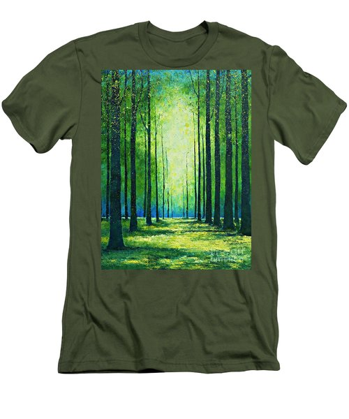 Light From Green Men's T-Shirt (Athletic Fit)