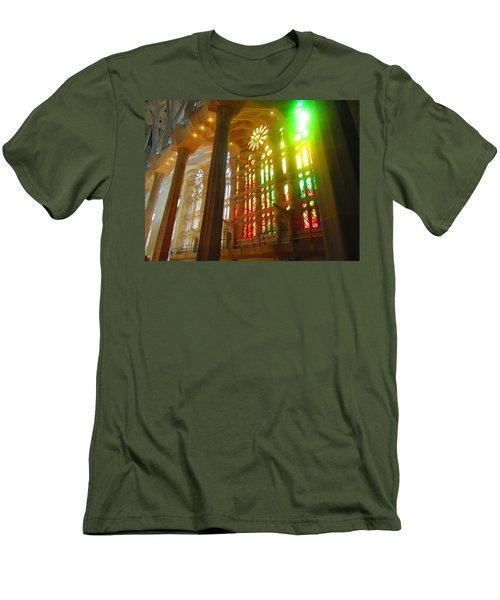 Men's T-Shirt (Slim Fit) featuring the photograph Light Of Gaudi by Christin Brodie