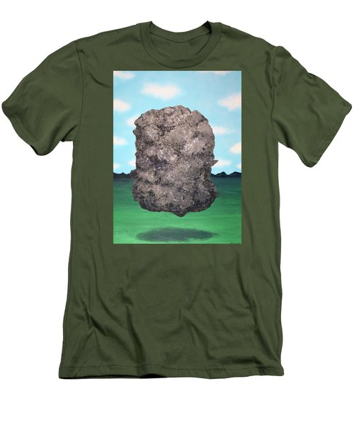 Men's T-Shirt (Slim Fit) featuring the painting Light Rock by Thomas Blood