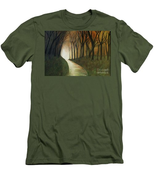 Light The Path Men's T-Shirt (Slim Fit) by Christy Saunders Church