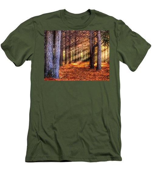 Men's T-Shirt (Slim Fit) featuring the photograph Light Thru The Trees by Sumoflam Photography