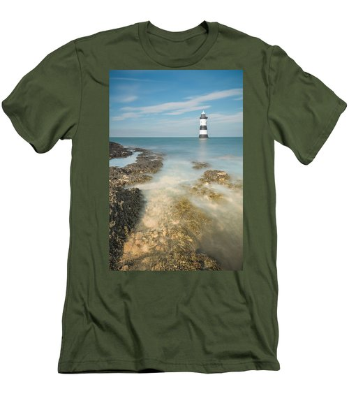 Lighthouse At Penmon Men's T-Shirt (Athletic Fit)