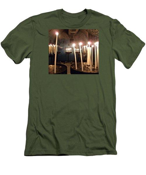 Lights Of Hope Men's T-Shirt (Slim Fit) by Amelia Racca