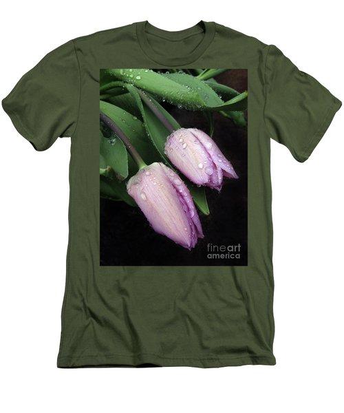 Lilac Drops Men's T-Shirt (Athletic Fit)
