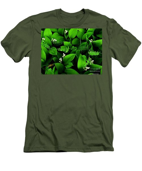Lily Of The Valley Men's T-Shirt (Slim Fit) by Elfriede Fulda