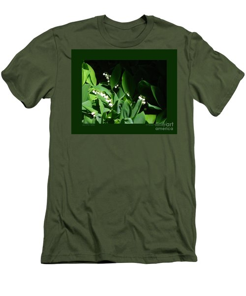 Lily Of The Valley Men's T-Shirt (Slim Fit) by Patricia Overmoyer