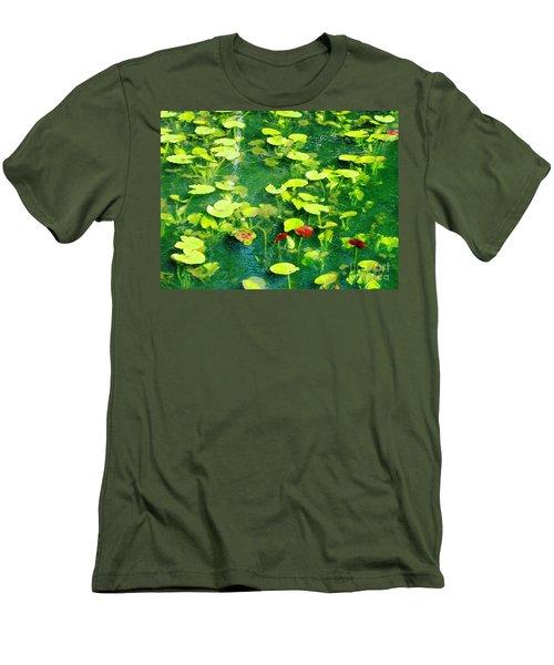 Lily Pads Men's T-Shirt (Slim Fit) by Melissa Stoudt
