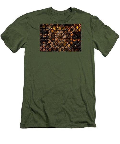 Linear Contingency Men's T-Shirt (Slim Fit) by Don Gradner