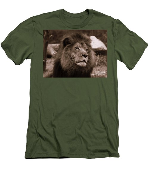 Men's T-Shirt (Slim Fit) featuring the photograph Lion King by Lisa L Silva