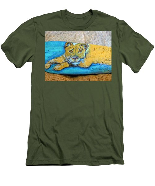 Lioness Men's T-Shirt (Slim Fit) by Ann Michelle Swadener