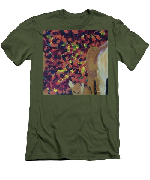 Men's T-Shirt (Athletic Fit) featuring the painting Lioness' Pride 2 Of 6 by Donald J Ryker III