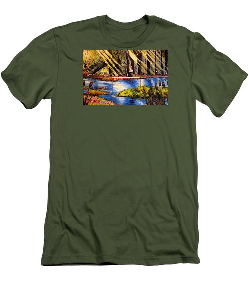 Lisas Neck Of The Woods Men's T-Shirt (Slim Fit) by Alexandria Weaselwise Busen