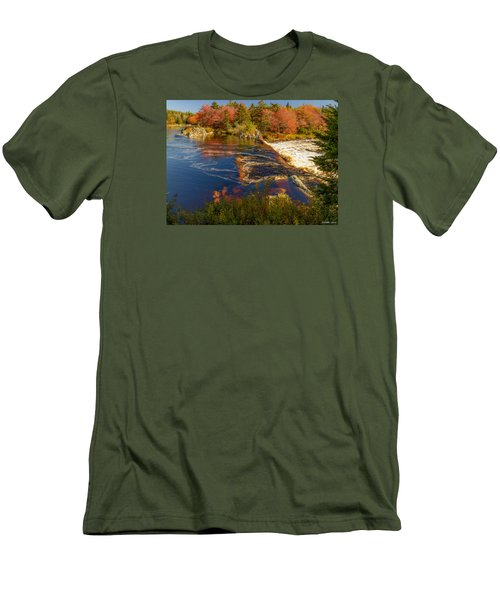 Liscombe Falls Men's T-Shirt (Slim Fit) by Ken Morris