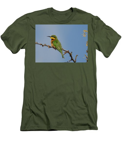 Men's T-Shirt (Slim Fit) featuring the photograph Little Bee-eater by Betty-Anne McDonald