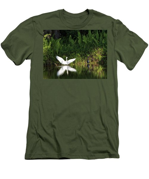 Little Blue Heron Non-impressed Men's T-Shirt (Athletic Fit)
