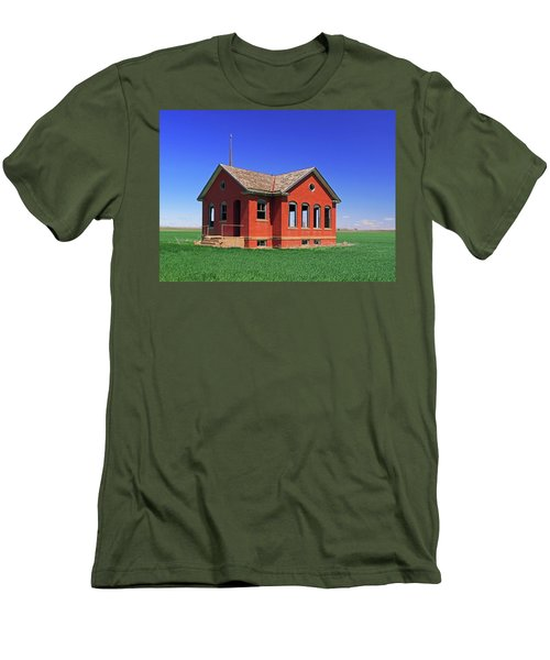 Little Brick School House Men's T-Shirt (Slim Fit) by Christopher McKenzie