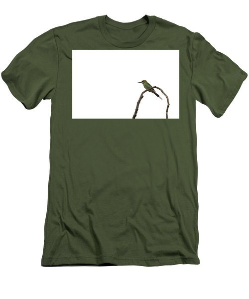 Little Green Bee Eater  Merops Orientalis  Men's T-Shirt (Athletic Fit)
