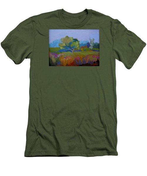 Little Miami Meadow Men's T-Shirt (Slim Fit) by Francine Frank
