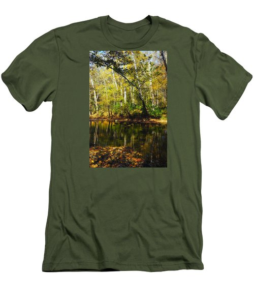 Men's T-Shirt (Slim Fit) featuring the photograph Little Miami River by Beth Akerman