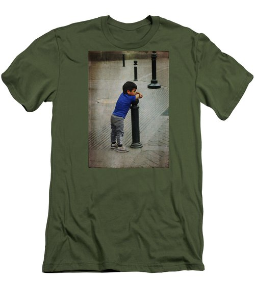 Little Peruvian Boy Men's T-Shirt (Athletic Fit)