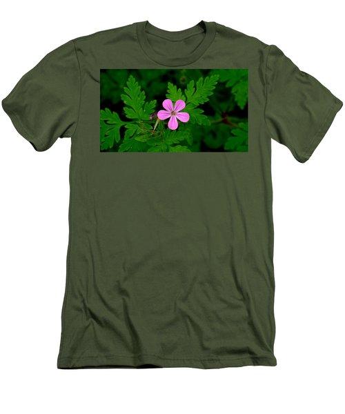 Little Purple Flower Men's T-Shirt (Slim Fit) by Karen Molenaar Terrell