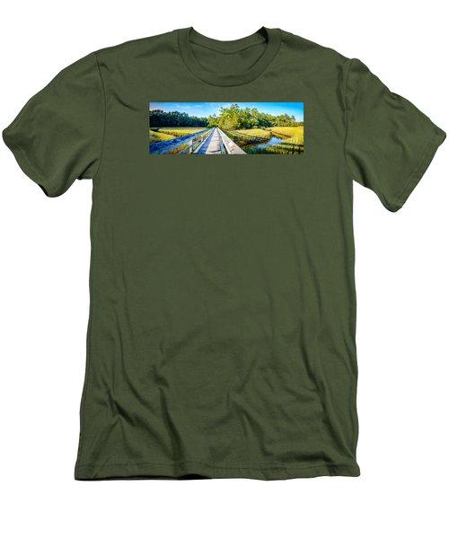 Little River Marsh Men's T-Shirt (Slim Fit) by David Smith