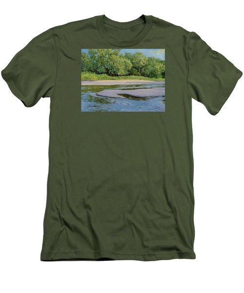 Little Sioux Sandbar Men's T-Shirt (Slim Fit) by Bruce Morrison