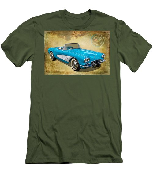 Little Vette Men's T-Shirt (Slim Fit) by Keith Hawley