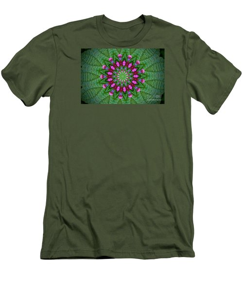 Men's T-Shirt (Slim Fit) featuring the photograph Little Weed Kaliedoscope by Shirley Moravec