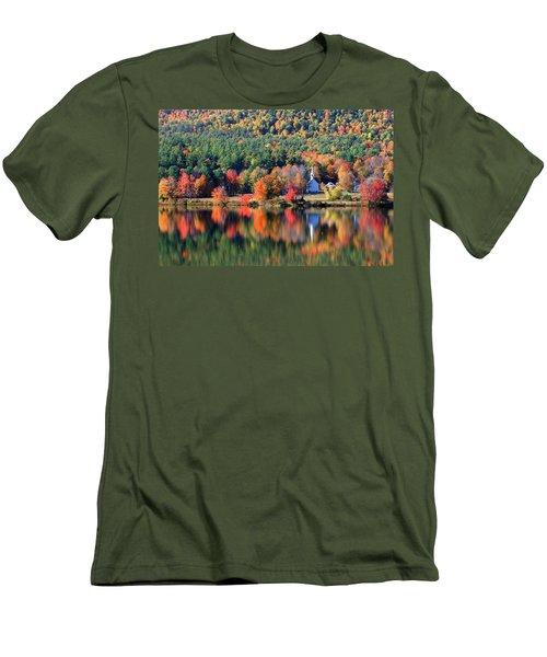 'little White Church', Eaton, Nh Men's T-Shirt (Athletic Fit)