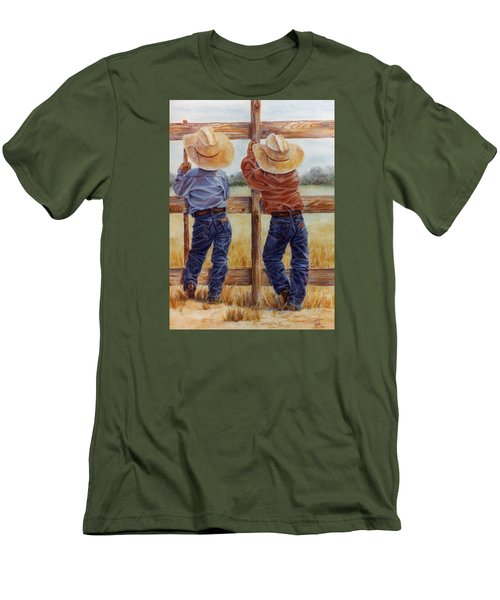 Little Wranglers Men's T-Shirt (Athletic Fit)