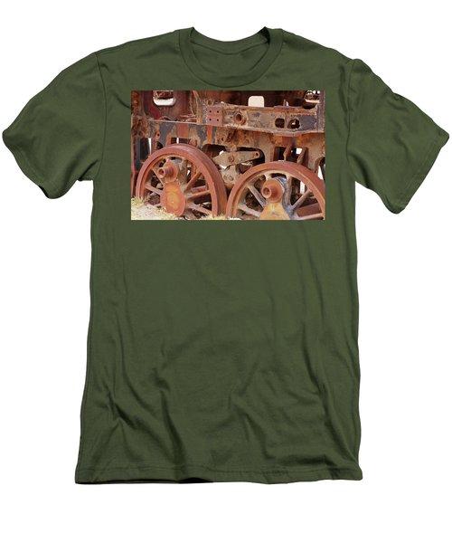 Locomotive In The Desert Men's T-Shirt (Slim Fit) by Aidan Moran